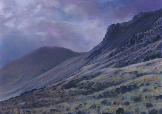Kirk Fell and Great Gable  - painting by Jerry Smith