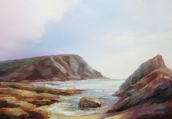 Dollar Cove, The Lizard - original painting by Jerry Smith