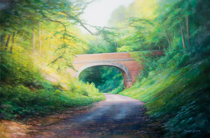 Bridge near Meonstoke  - painting by Jerry Smith