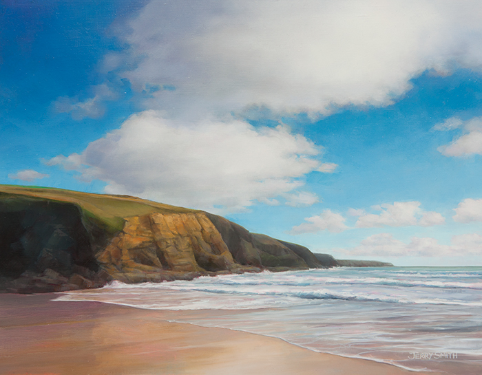 Church Cove, The Lizard - original painting by Jerry Smith