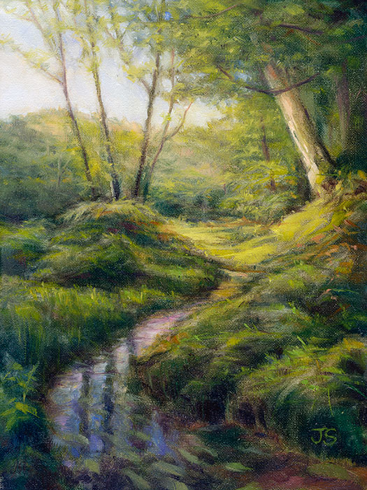 Stream near Bolderwood  - painting by Jerry Smith