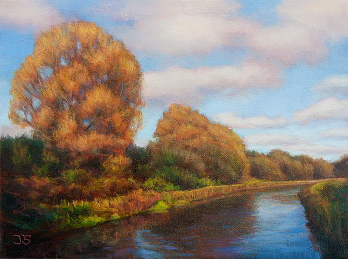 River Test Colours  - painting by Jerry Smith