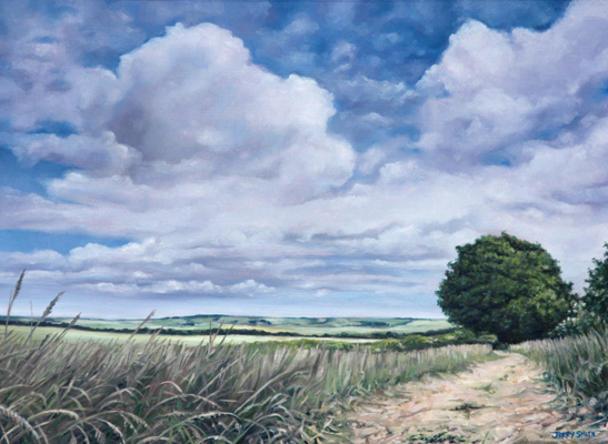 Across the Meon Valley  - painting by Jerry Smith