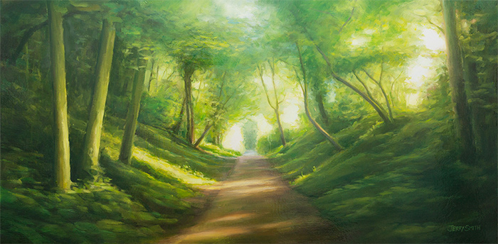 Meon Valley Trail Blazing - original painting by Jerry Smith