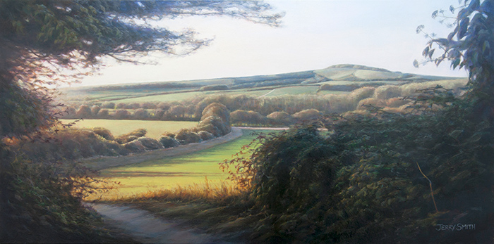 Beacon Hill and the South Downs Way  - painting by Jerry Smith