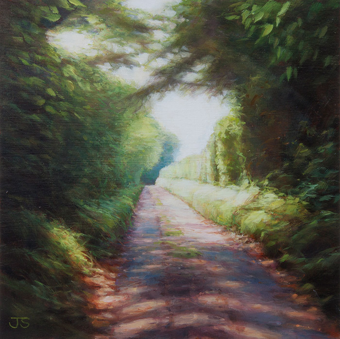Lone Barn Lane - original painting by Jerry Smith