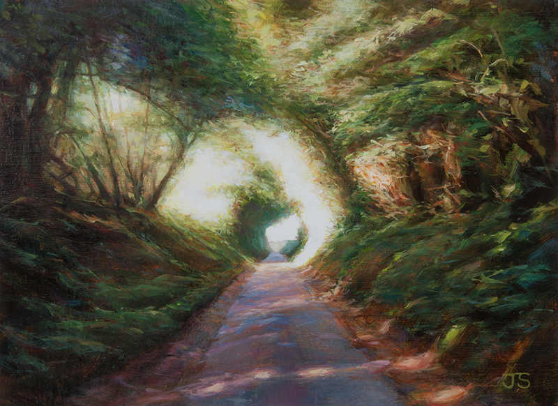 Lippen Lane  - painting by Jerry Smith
