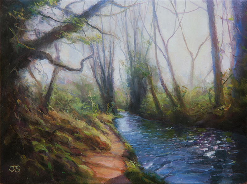 Meon River  - painting by Jerry Smith