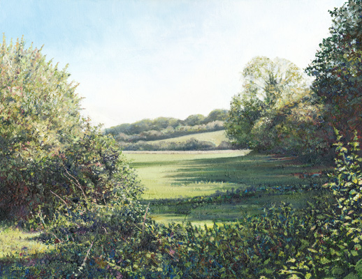 Field near Dundridge  - painting by Jerry Smith
