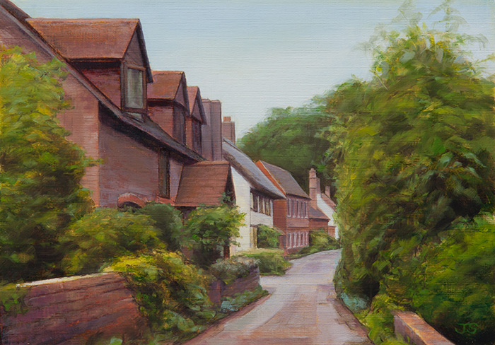 The Cross, East Meon - original painting by Jerry Smith