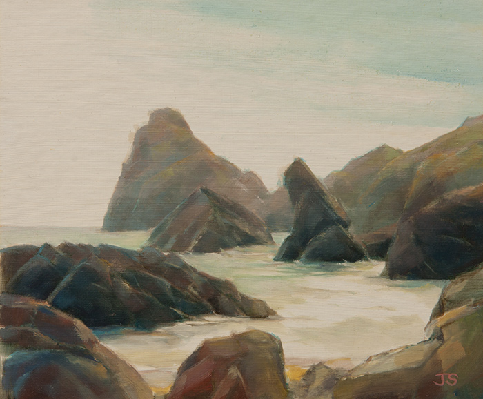Kynance Cove - original painting by Jerry Smith