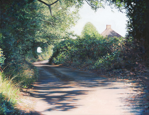 Cut Throat Lane, Swanmore  - painting by Jerry Smith