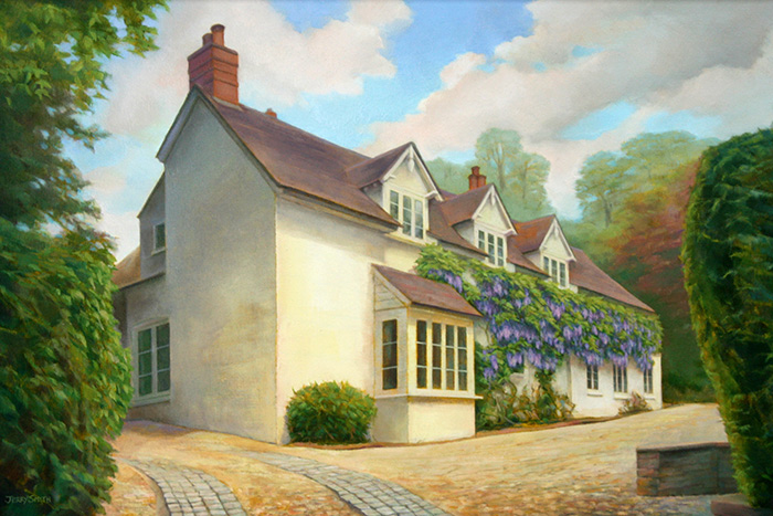 House in Swanmore - original painting by Jerry Smith