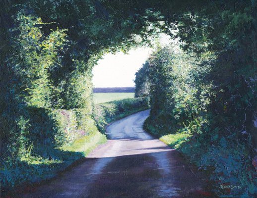Dundridge Lane - original painting by Jerry Smith