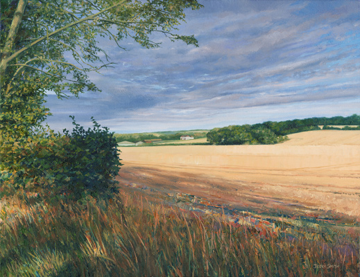 Hazelholt Farm, Dundridge  - painting by Jerry Smith