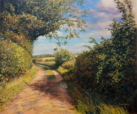 Green Lane, Upper Swanmore  - painting by Jerry Smith