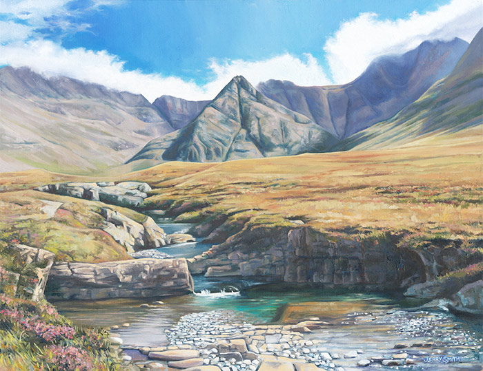 Fairy Pools, Isle of Skye  - painting by Jerry Smith