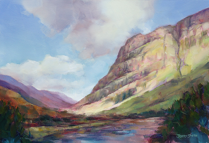 Glencoe  - painting by Jerry Smith