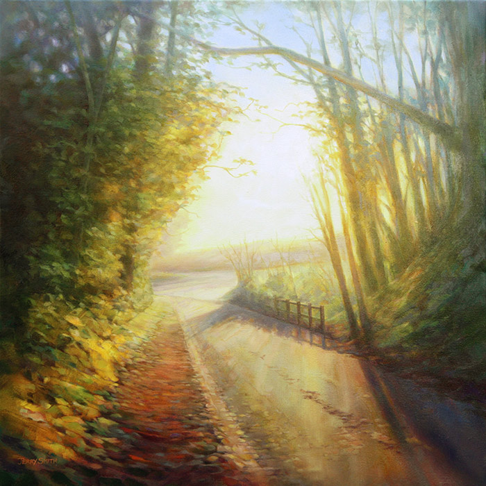 Oxford Lane, Upper Swanmore  - painting by Jerry Smith
