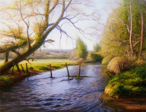 Meon River in Spring