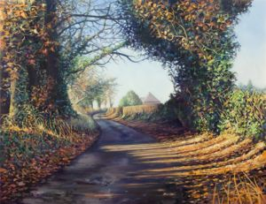 Cut Throat Lane in winter, Swanmore